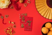 Fotografie Čínská dekorace a mandarinky
