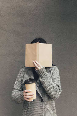 woman with book and coffee