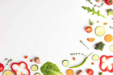 cut different vegetables