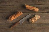 bageta a nůž