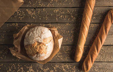 baguettes and whole wheat bread