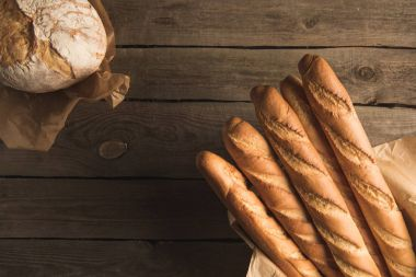 baguettes and wholegrain bread