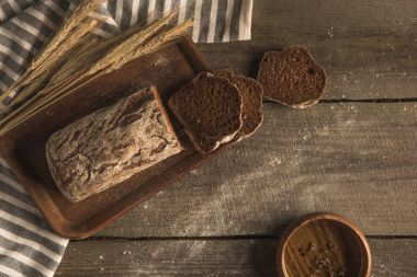 homemade bread and spikelets