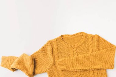 warm yellow sweater