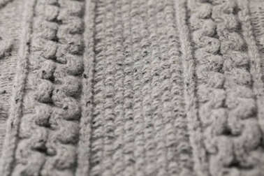 texture of grey sweater with pattern