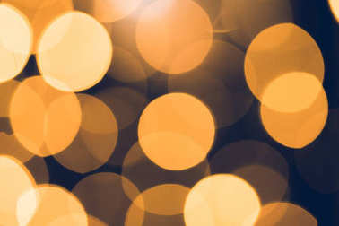 beautiful golden bokeh for holiday background