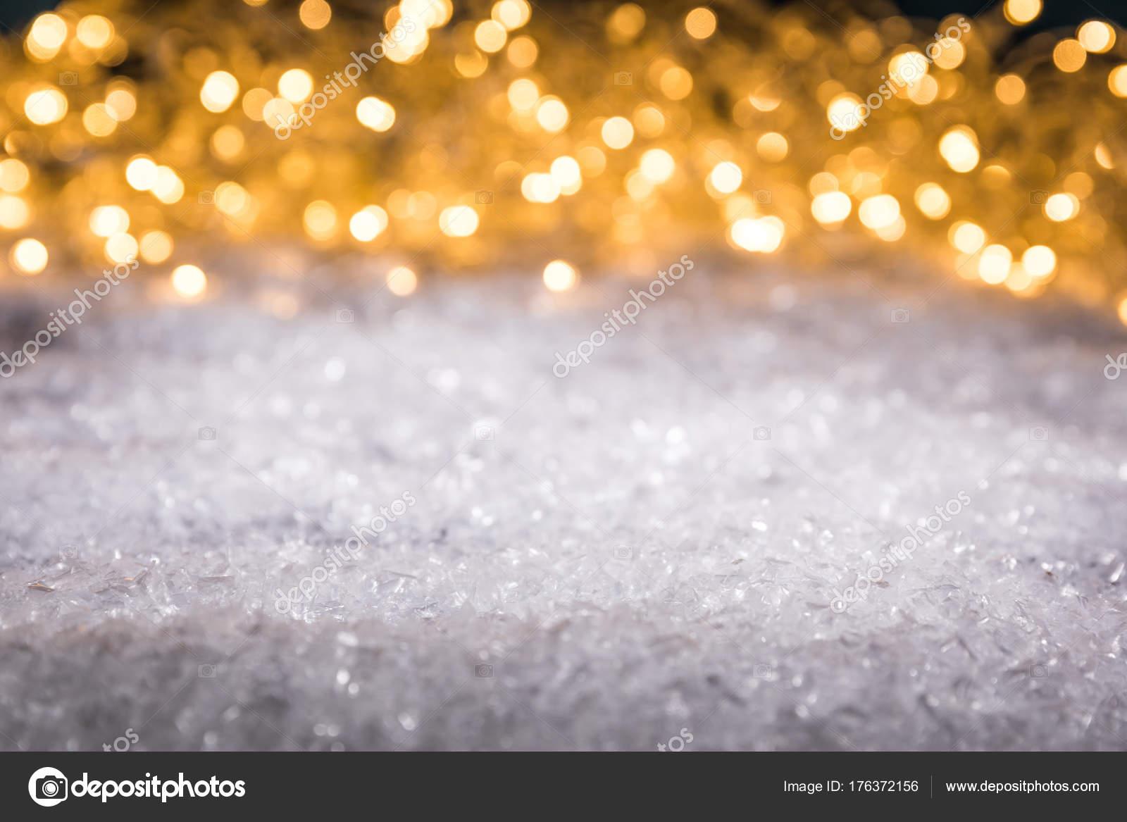 Weihnachten Winter Hintergrund Mit Schnee Und Glänzend Verschwommen ...