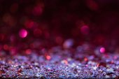 Vánoční pozadí s růžové a stříbrné lesklé konfety hvězdy