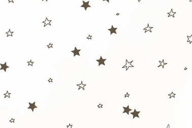 seamless background with christmas golden stars, isolated on white