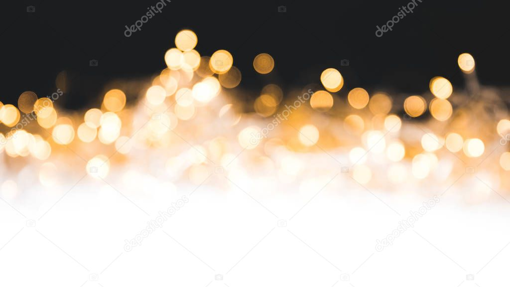 christmas background with shiny blurred lights