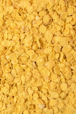 full frame background from delicious crunchy corn flakes