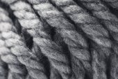 close up view of grey yarn ball