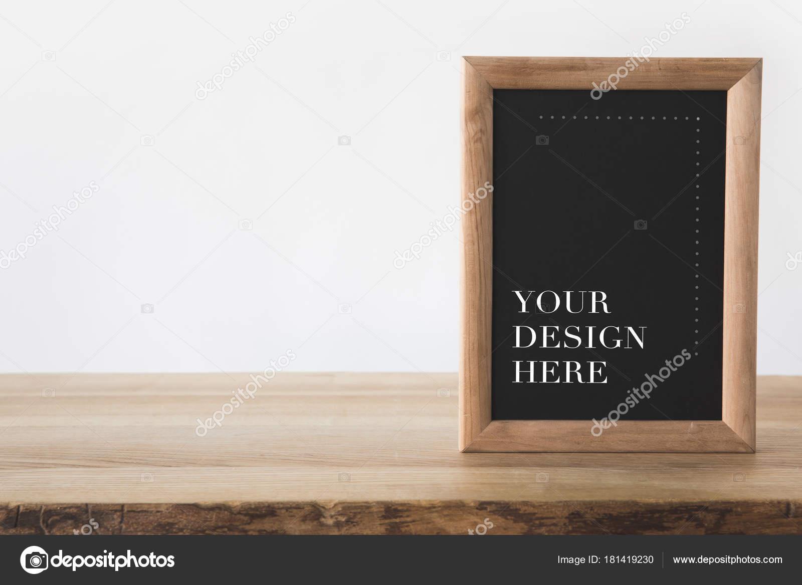 Tafel Rahmen Mit Text Ihr Design Hier Auf Weiß — Stockfoto ...