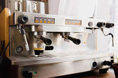 Fotografie Cooking coffee on modern espresso machine