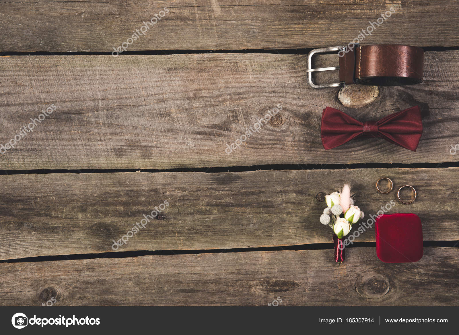 Flat lay arranged grooms accessories wedding rings wooden tabletop flat lay arranged grooms accessories wedding rings wooden tabletop stock photo junglespirit Image collections
