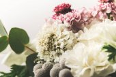 close up view of beautiful bridal bouquet