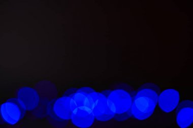 abstract dark blue bokeh texture