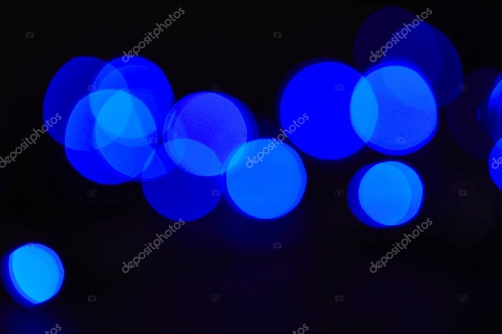 abstract dark blue bokeh background