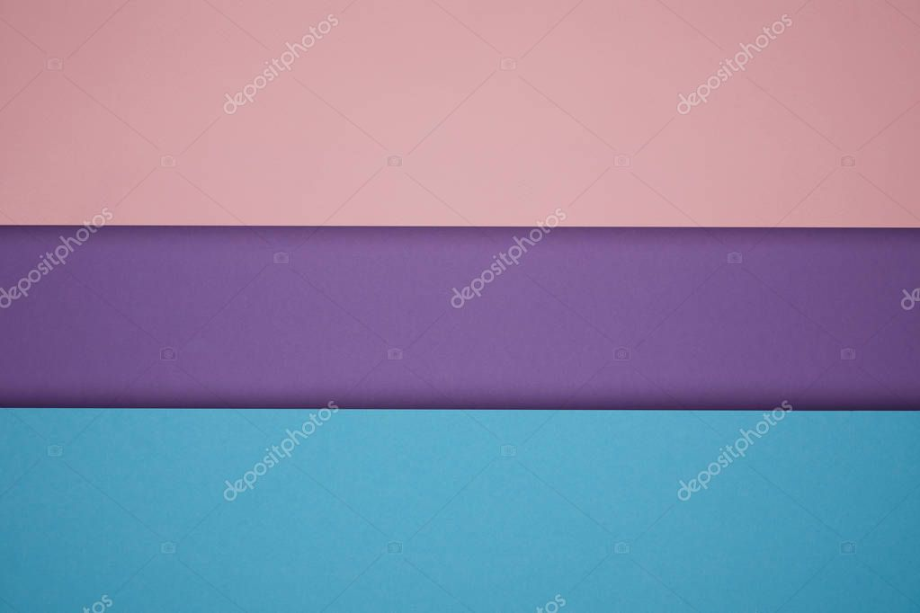 beautiful bright blue, pink and violet paper background