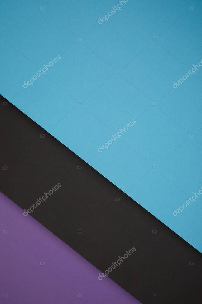 blue, black and purple geometric background from colored paper