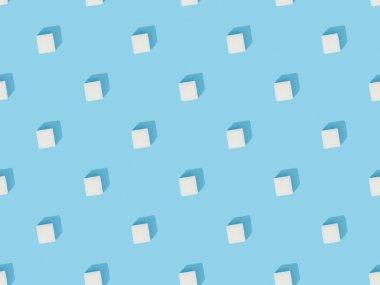 White sweet sugar cubes seamless pattern stock vector