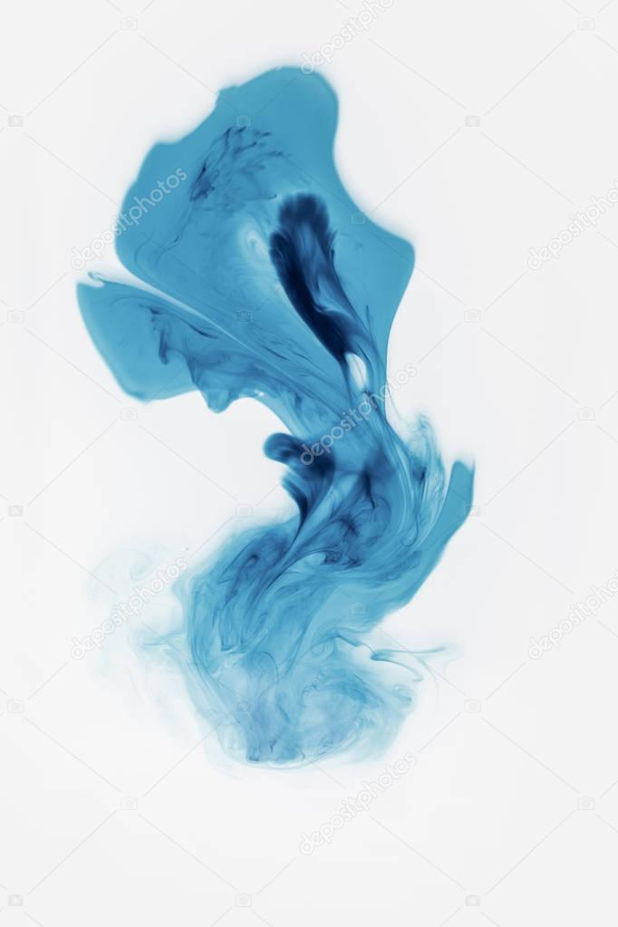 Abstract blue paint splash, isolated on white stock vector