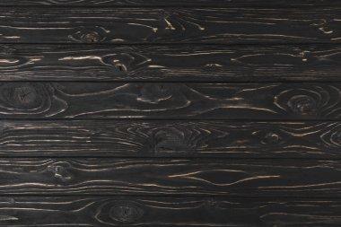 full frame image of dark rough wooden surface