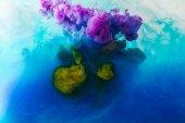 celý rám obrazu míchání modré, tyrkysové, žluté a purpurové barvy Šplouchá ve vodě