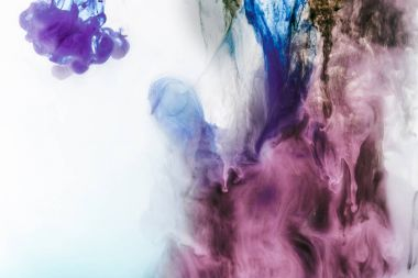magic background with violet and purple smoky paint