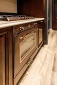 Interiér kuchyně s vintage stylu pečení trouba