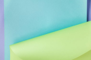 beautiful creative blue and green colored paper abstract background
