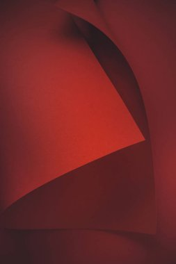 close-up view of red paper sheet abstract background