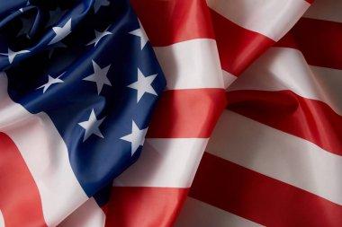 Full frame image of united states of america flag stock vector