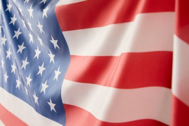 Close up view of united states of america flag stock vector