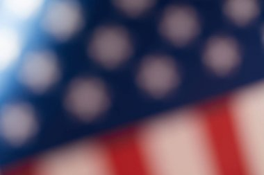 blurred image of united states of america flag