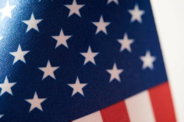 partial view of united states of america flag