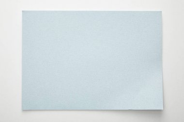 Top view of empty blue paper on white background stock vector