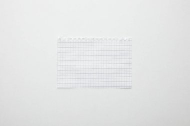 Top view of empty paper isolated on white stock vector