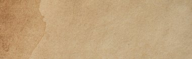 Top view of vintage beige paper texture, panoramic shot stock vector