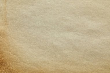 Top view of vintage beige paper texture with copy space stock vector