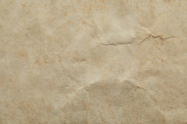Top view of crumpled vintage beige paper texture with copy space stock vector