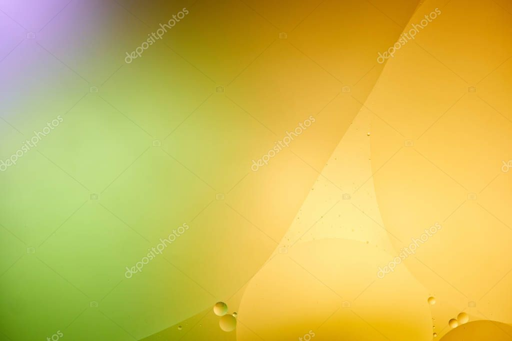 Beautiful abstract orange, purple and green color background from mixed water and oil stock vector