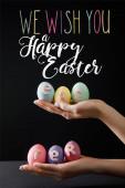 Fényképek Válogatott fókusz húsvéti tojás fa fórumon fekete kívánunk boldog húsvéti illusztrációt