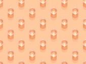 vrchní pohled na sklenice vody na oranžové, hladké pozadí vzor