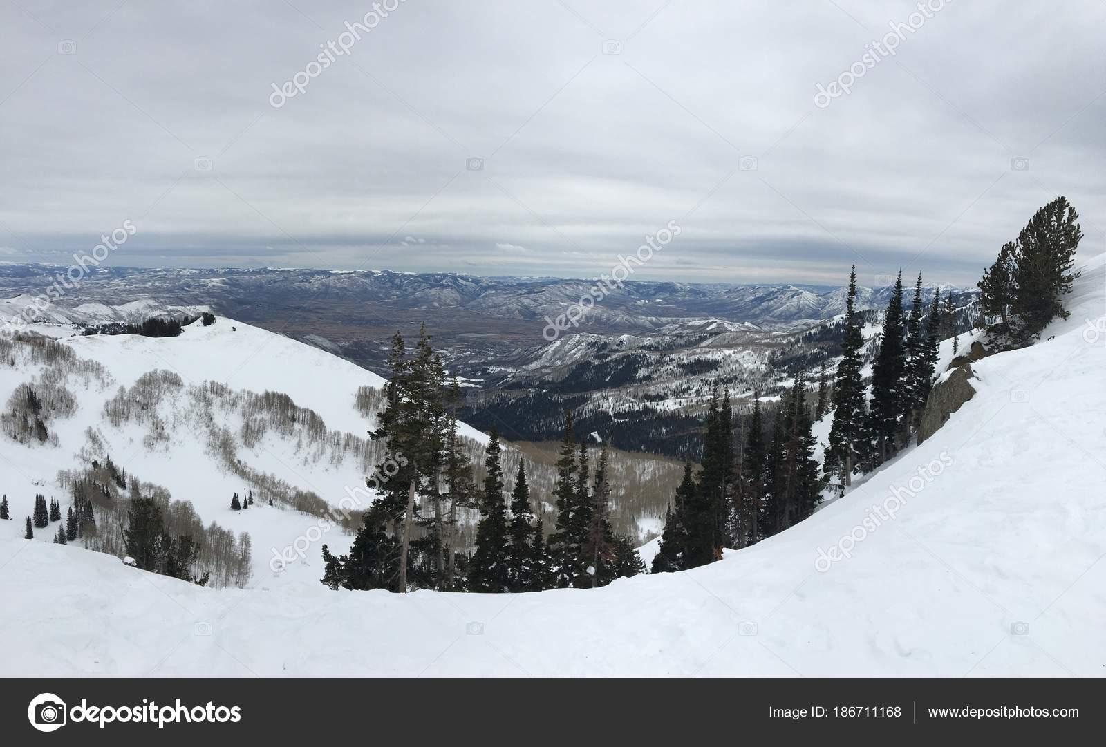 winter majestic views wasatch front rocky mountains brighton ski