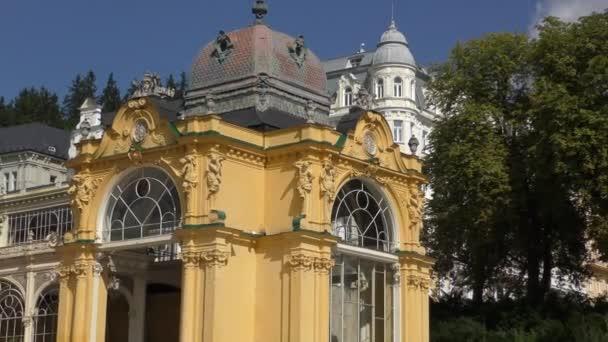 Kolonády a zpívající fontány v Mariánské Lázně (Marienbad) - Česká republika
