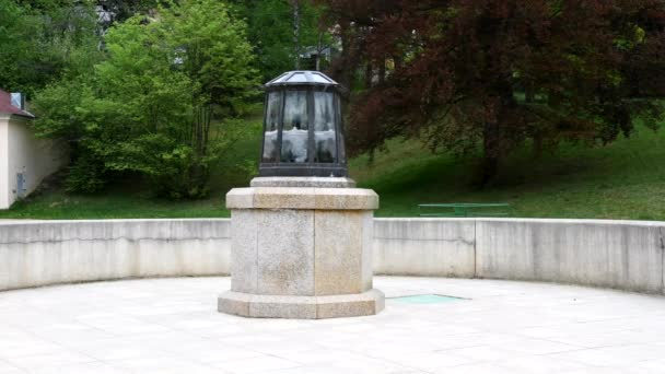 Mineral water spring Ferdinand in great spa town Marianske Lazne (Marienbad)