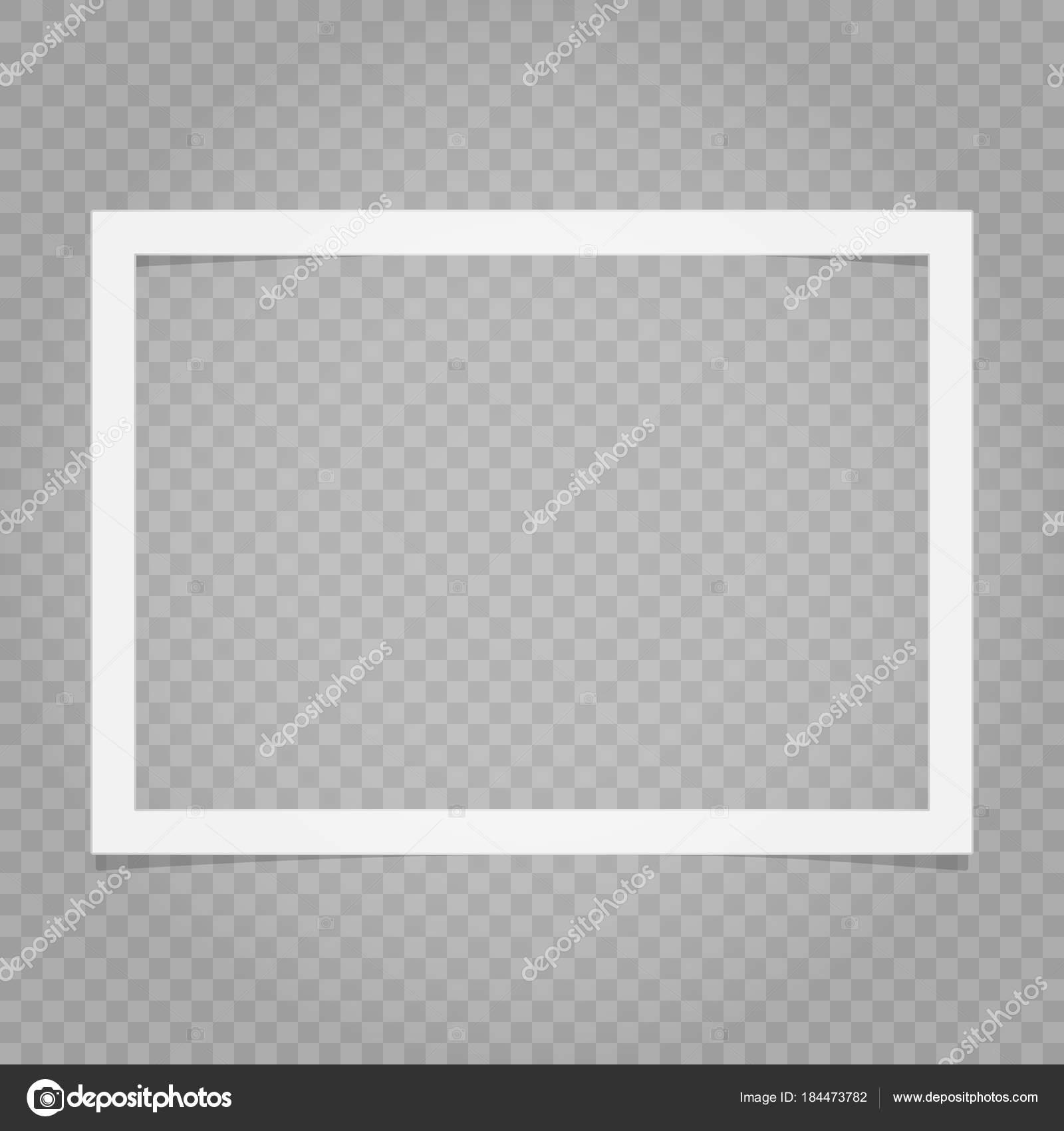 Vektor-Bild transparent Fotorahmen — Stockvektor © MaksimAnkuda ...