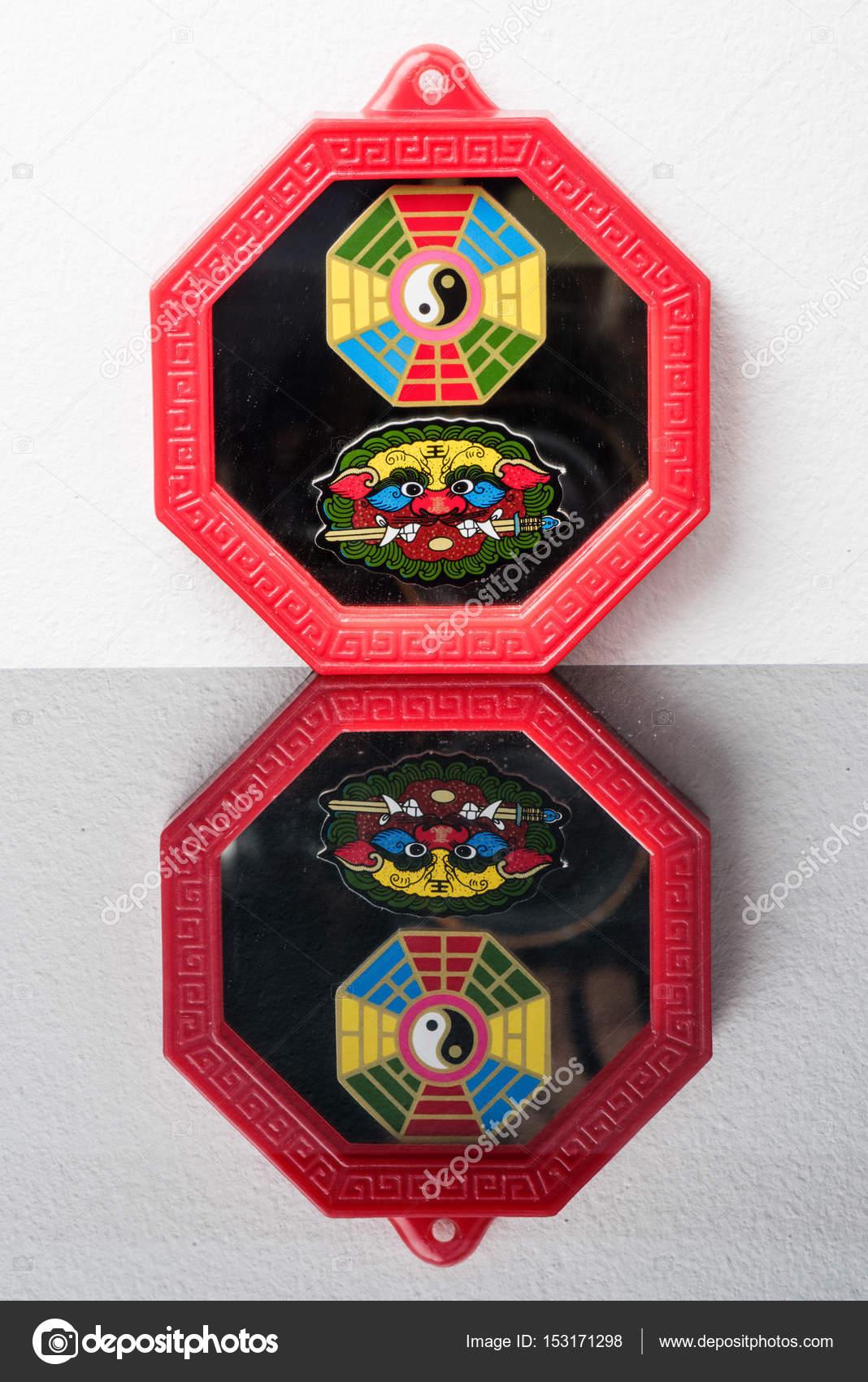 Feng Shui Bagua Spiegel Stockfoto C Norgallery 153171298