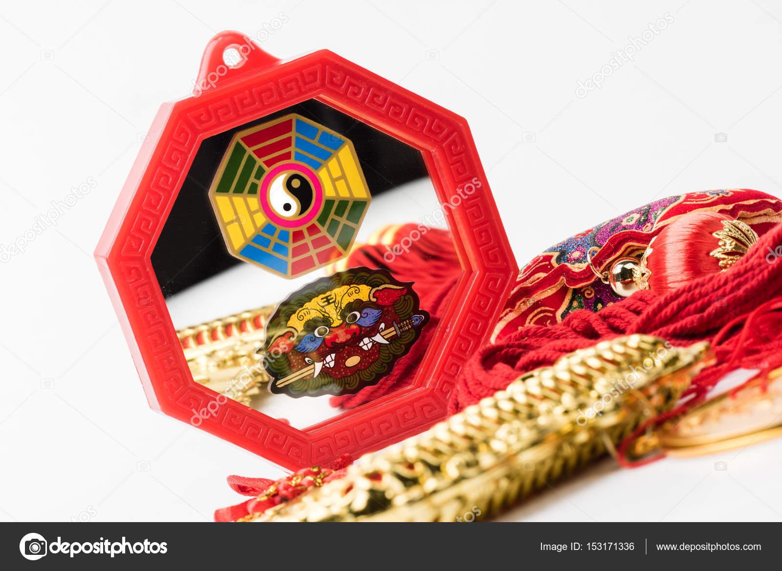 Feng Shui Bagua Spiegel Stockfoto C Norgallery 153171336